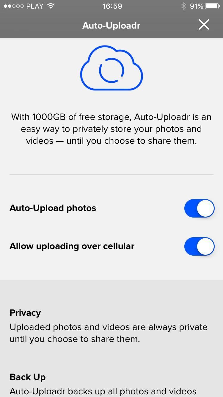 Flickr mobile app