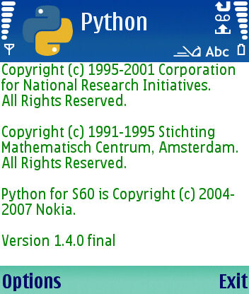 Python for Symbian S60
